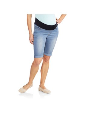 Maternity Underbelly Bermuda Denim Shorts - Available in Plus Sizes
