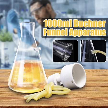 1000ml Laboratory Vacuum Filtration Device Filter Bottle Buchner Funnel  Apparatus 80mm