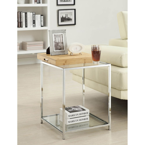 Convenience Concepts Palm Beach End Table with Tray, Multiple Finishes