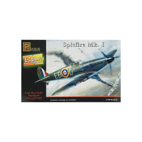 8410 1/48 E-Z Snapz Spitfire MK.1 Multi-Colored