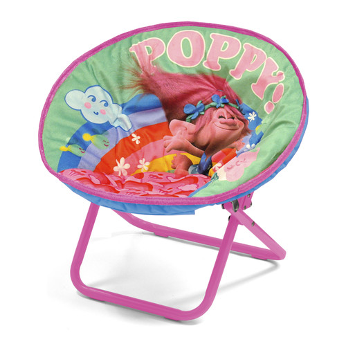 Idea Nuova Character Toddler Kids Saucer Chair in Trolls