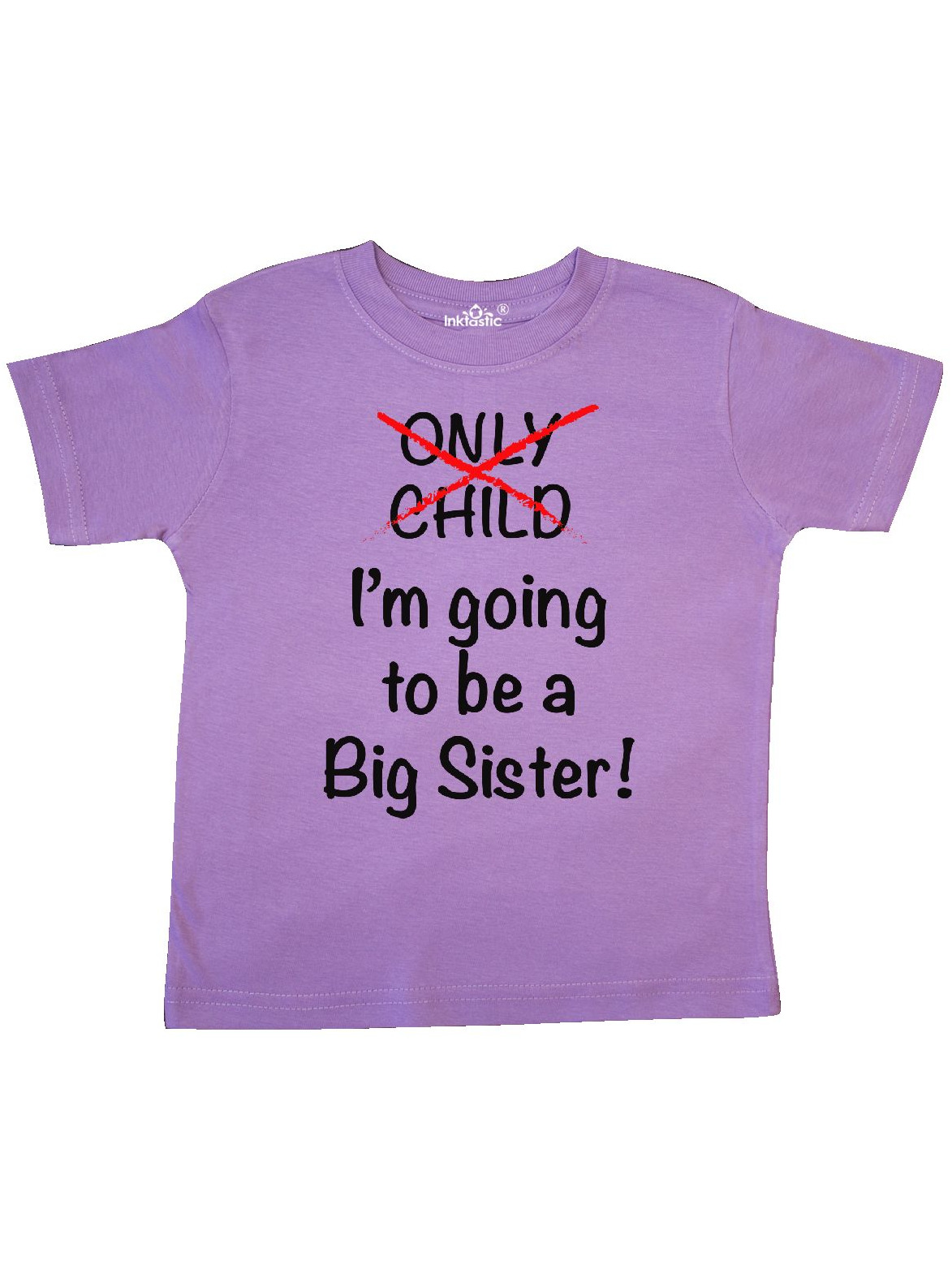 Toddler Short Sleeve Tee Instant Message Promoted to Big Sister