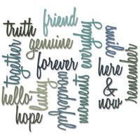 Sizzix Thinlits Dies By Tim Holtz 16 Pack Friendship Script Words