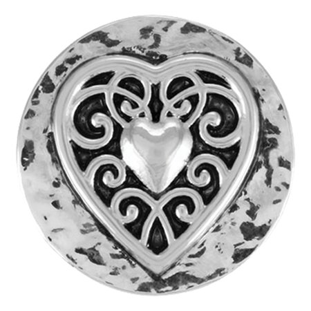 - Ginger Snaps VINTAGE HEART SN01-01 Interchangeable Jewelry Snap Accessory, Ginger Snaps come in two sizes Petite and Regular By The Good Bead