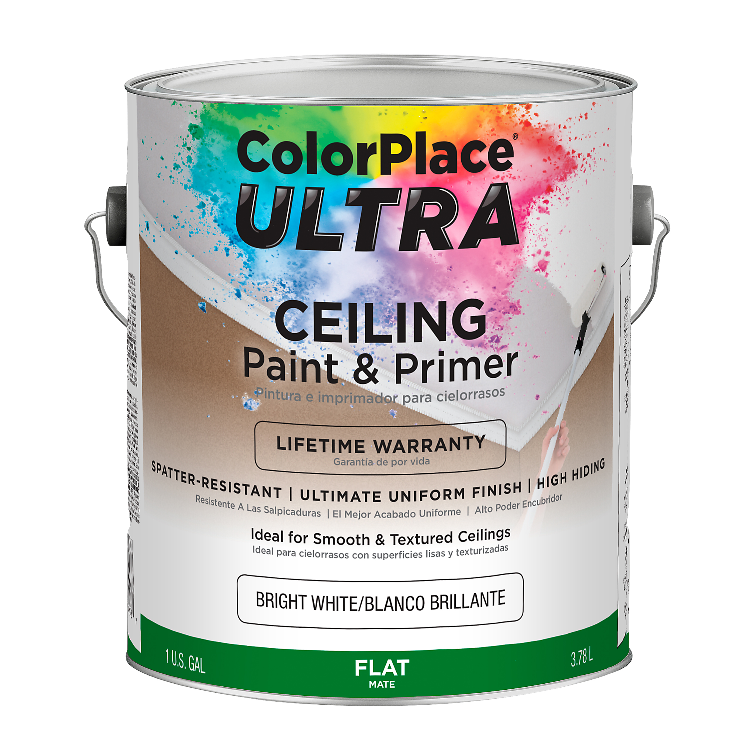 ColorPlace Ultra Flat Interior Bright White Ceiling Paint