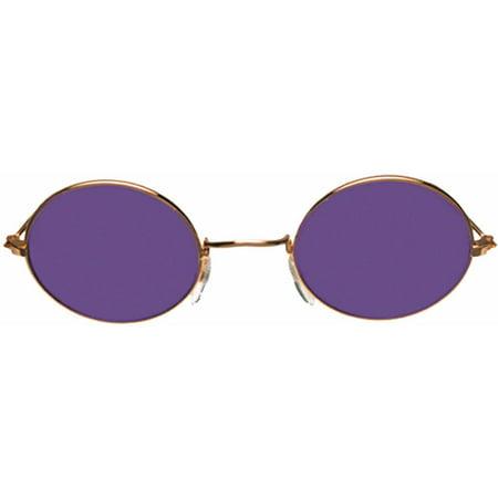 Gold Purple Glasses John Adult Halloween (Elton John Purple Glasses)