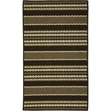 Mainstays Stripe Down Olefin Scatter Textured Area or Runner Rug