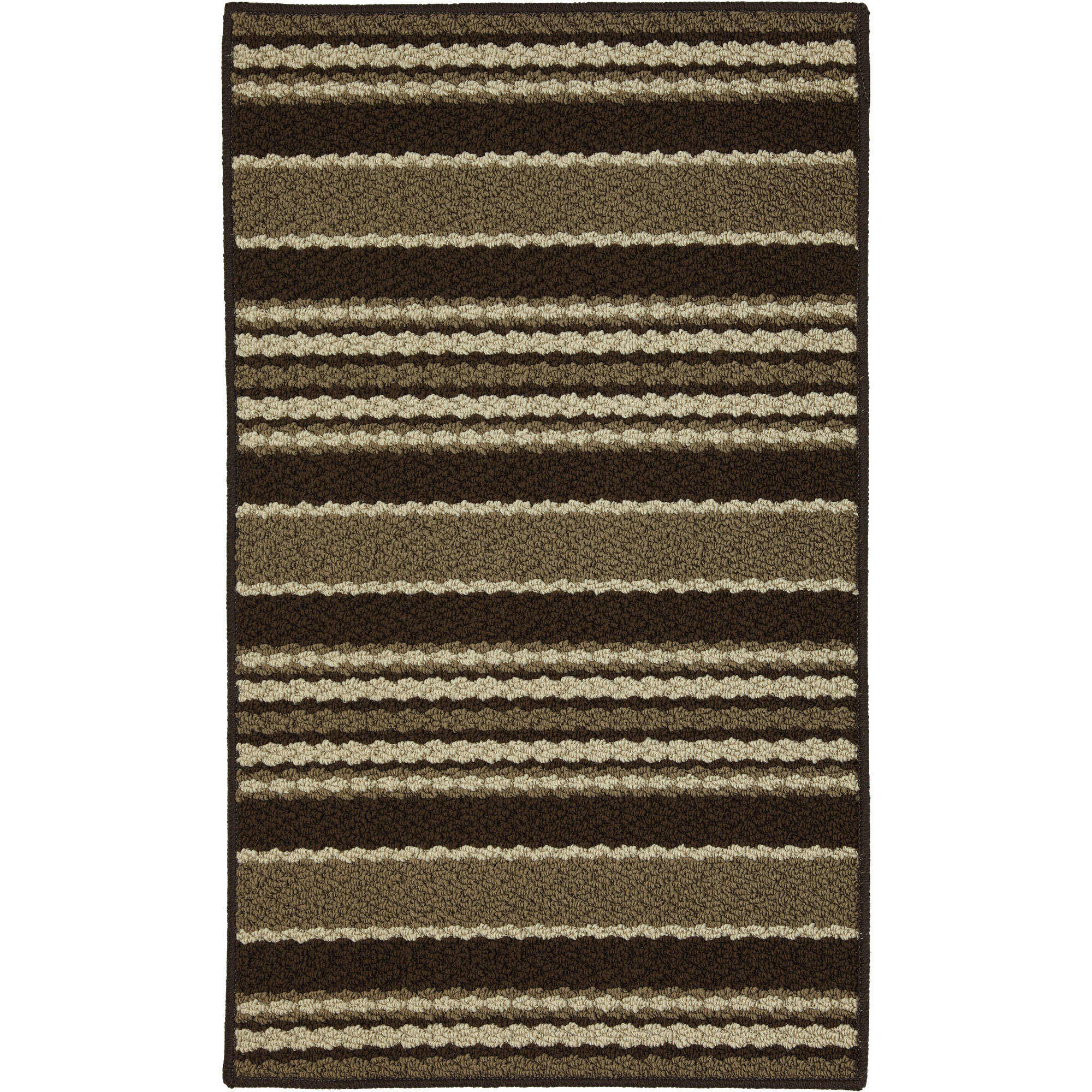 Mainstays Stripe Down Olefin Scatter Textured Area or Runner Rug
