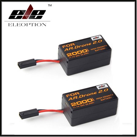 2 Pcs 2000mAh 11.1V High Capacity Upgrade Rechargeable Battery Pack Replacement Battery for Parrot  AR.Drone 2.0 Quadcopter