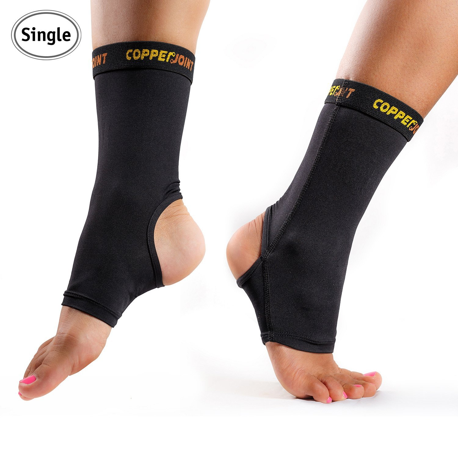 Copper Fit Pro Series Performance Compression Ankle Sleeve New Free Shipping
