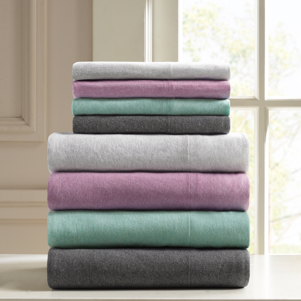 Comfort Classics Heathered Cotton Jersey Knit Sheet Set
