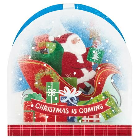 Hallmark Paper Wonder Pop Up Christmas Card Snow Globe (Santa Claus) ()