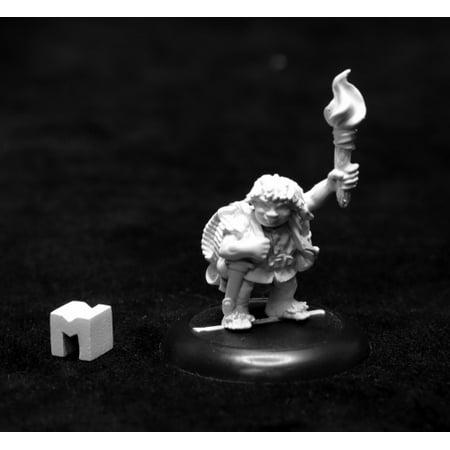 Reaper Dungeon Dwellers Gus Greenweevil, Halfling Henchman 07018 Unpainted Metal