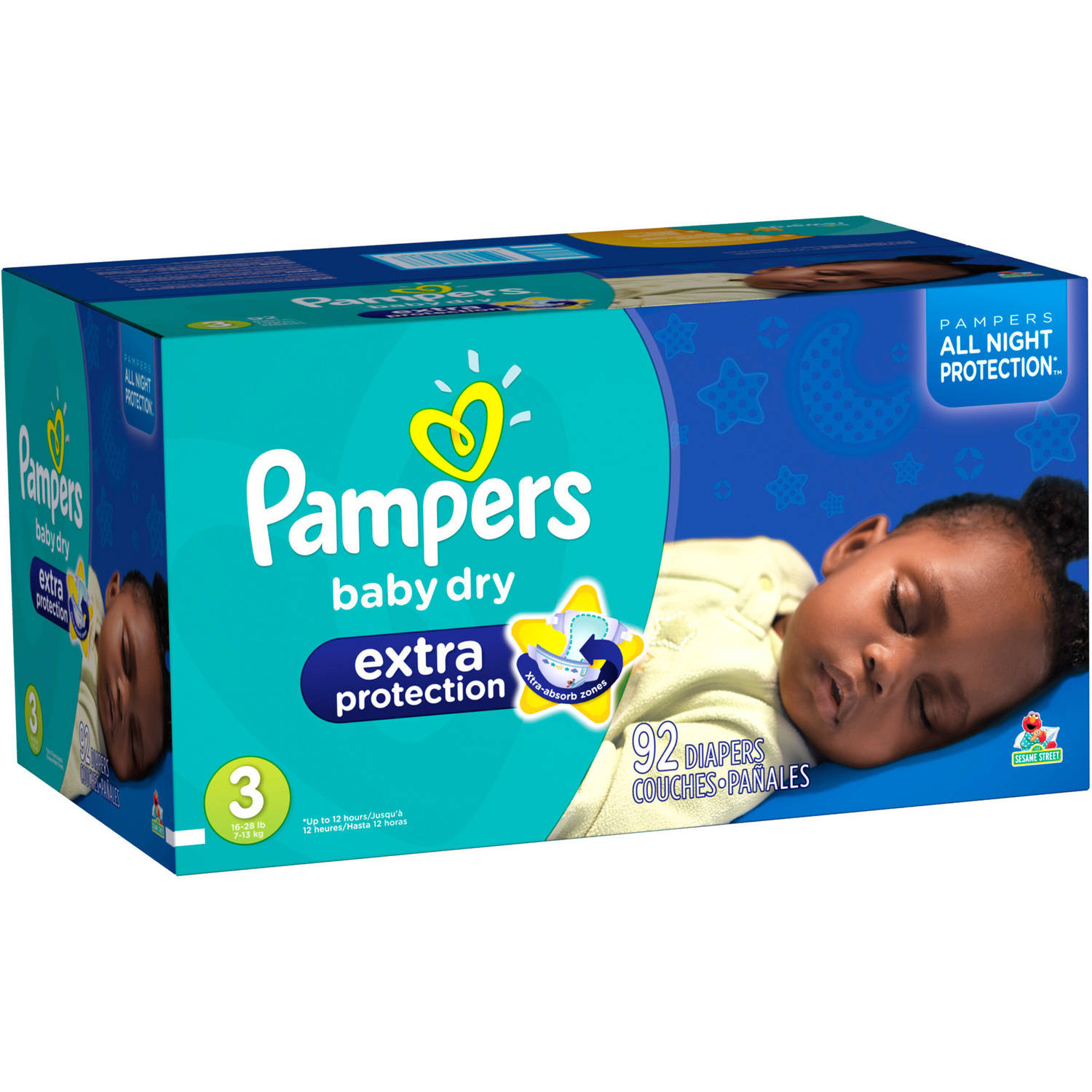 Pampers Extra Protection Diapers (Choose your Size)