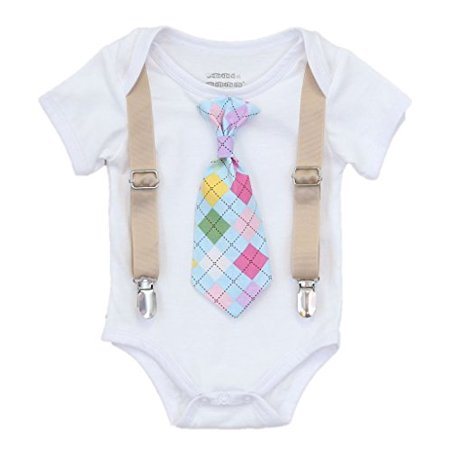 aff81aa7985a Noah s Boytique Baby Boys Easter Argyle Outfit Tie 0-3 Months ...