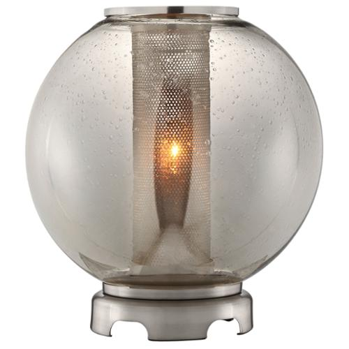 Stein World Operating Company Ledston Glass and Brushed Metal Orb Table Lamp