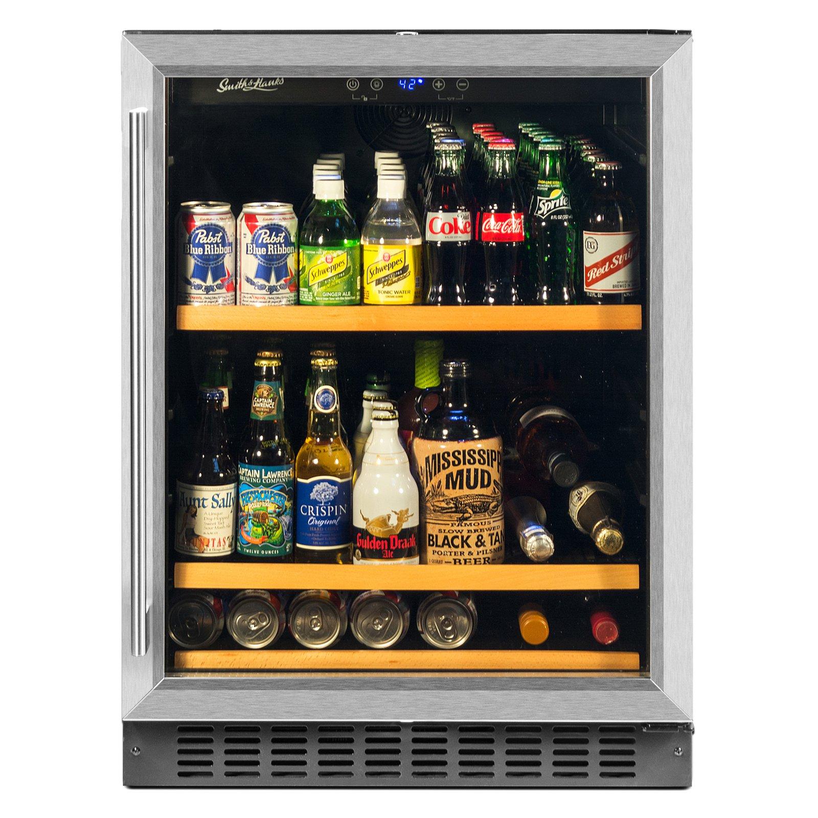 Smith & Hanks BEV145SRE 178 Can Capacity Single Zone Under Counter Beverage Refrigerator