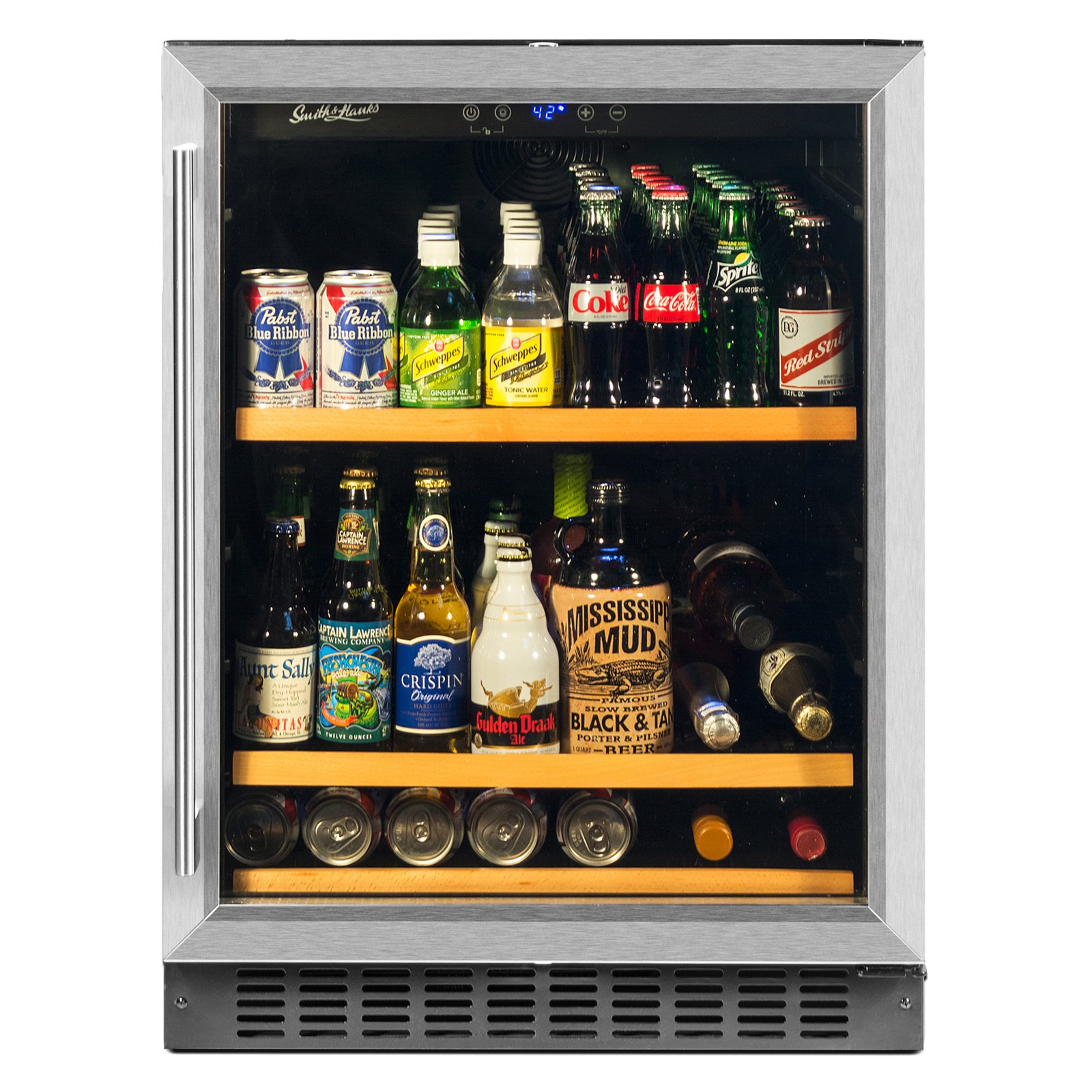 Smith & Hanks BEV145SRE 178 Can Capacity Single Zone Under Counter Beverage Refrigerator