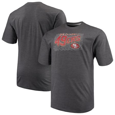 Men's Majestic Charcoal San Francisco 49ers Big & Tall Royal Domination Malt T-Shirt - Events On Halloween In San Francisco