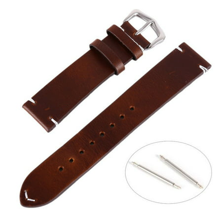 Replacement Calf Leather Wrist Watch Band Strap 18 20 22mm (22mm Leather Watch Bands)