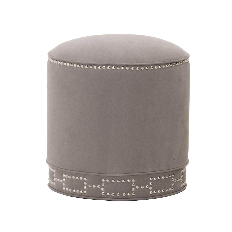 Gray Manor Elizabeth Linen Round Footstool by Overstock