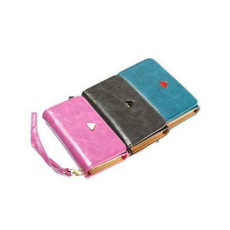 Lady 4 Color Handy Wallet PU Leather Pouch Mobile Phone Case Cover Purse Handbag