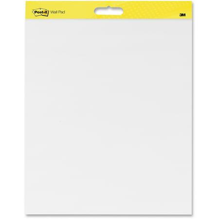 Post-it®, MMM566CT, Self-Stick Plain White Paper Wall Pad, 4 / Carton ()