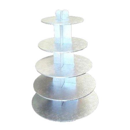 Silver 5 Tier Cupcake Stand - Silver Cupcake Stand