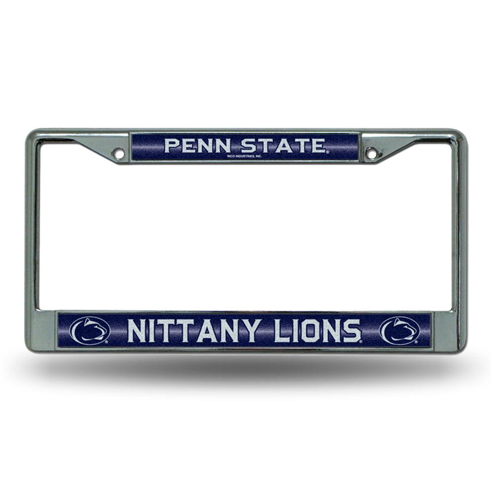 Penn State Nittany Lions NCAA Bling Glitter Chrome License Plate Frame