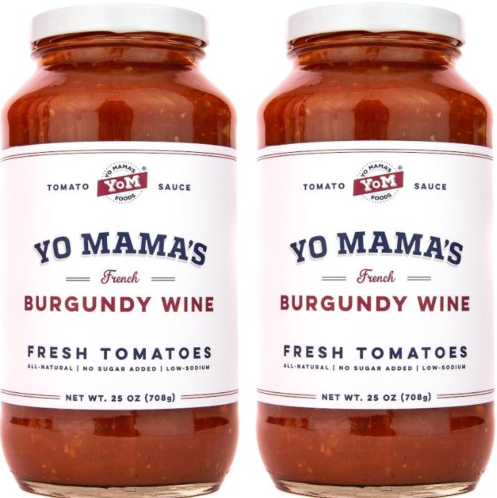 Yo Mama S Foods Gourmet Burgundy Wine Pasta Sauce 2 25 Oz Jars No Sugar Added Gluten Free Preservative Free Keto And Paleo Friendly And Made With Whole Non Gmo Tomatoes Yo Mama S