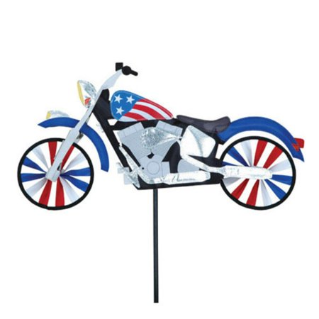 Premier Designs 22 in. Patriotic Motorcycle (Patriotic Garden Spinner)
