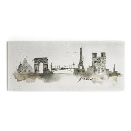 Graham and Brown Paris Watercolor Printed Canvas Wall Art ()