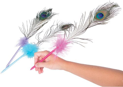 Toy Cubby Marabou Colorful Feathers Pens 1 Dozen