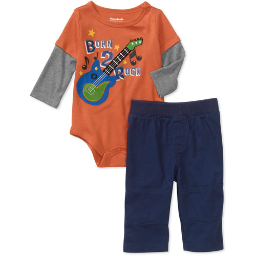 Garanimals Newborn Boys' 2-Piece Creeper and Pants Set