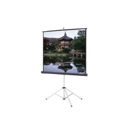 Da-Lite Picture King with Keystone Eliminator Video Format - projection screen with tripod - 84 in ( 83.9 in )
