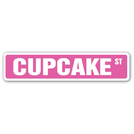 Cupcake Street [3 Pack] of Vinyl Decal Stickers | Indoor/Outdoor | Funny decoration for Laptop, Car, Garage , Bedroom, Offices | SignMission - Garage Decal For Halloween
