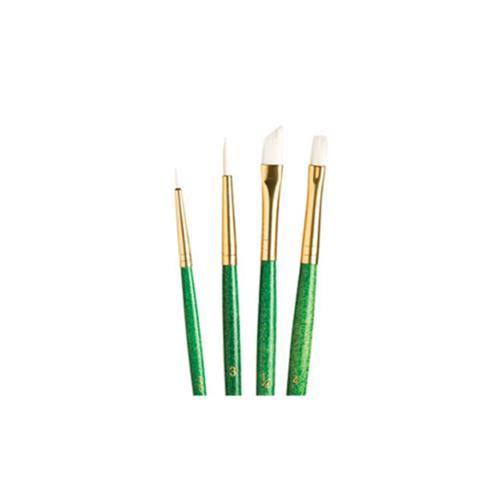 White Taklon Real Value Brush Set-4/Pkg - image 1 de 2