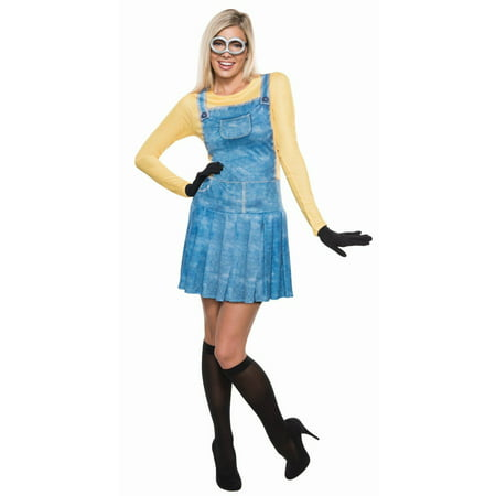 Minions Movie Women's Minion Women's Adult Halloween Costume - Girl Minion Halloween Costume