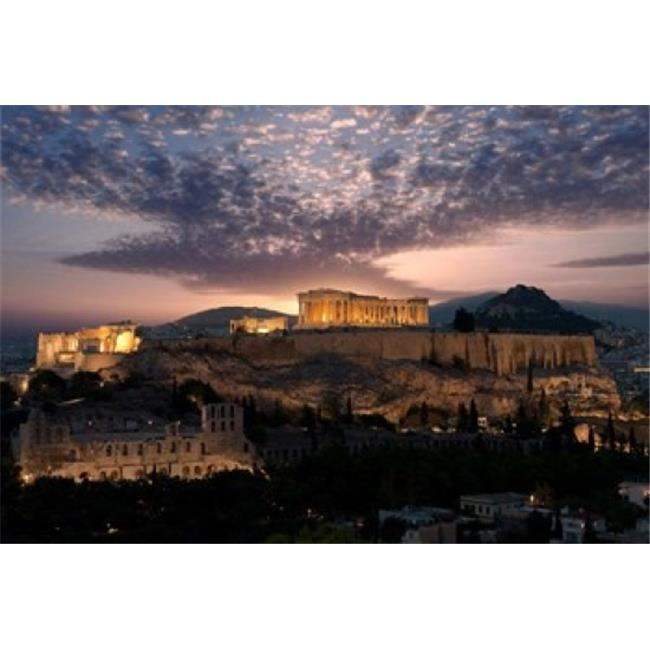 Panoramic Images PPI133286 Ruins of A Temple Athens Attica Greece Poster Print by Panoramic Images, 18 x 12