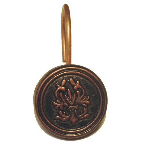 """""""Balmoral"""" Resin Shower Curtain Hooks in Oil Rubbed Bronze"""