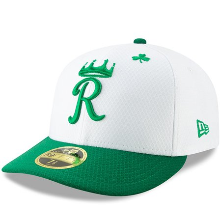 best service 7309c 80379 Kansas City Royals New Era 2019 St. Patrick s Day On-Field Low Profile 59FIFTY  Fitted Hat - White Kelly Green - Walmart.com