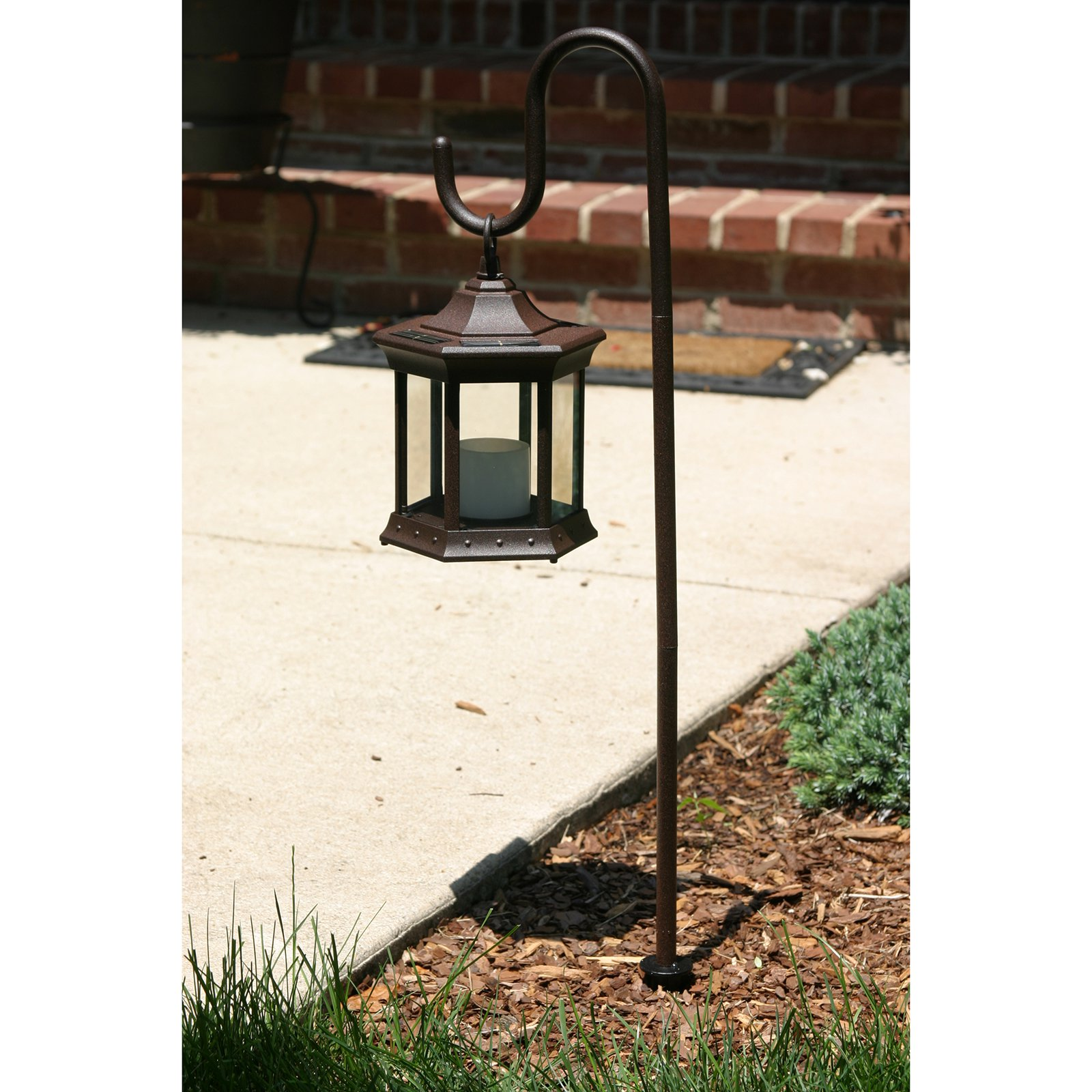 Solar Lantern With Shepherdu0027s Hook   Walmart.com