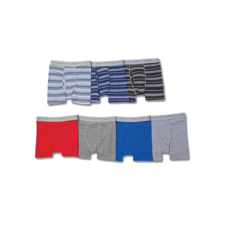 Cotton Lycra Boy Brief - Boys' Sport Ringer Boxer Brief, 7 + 3 Bonus Pack