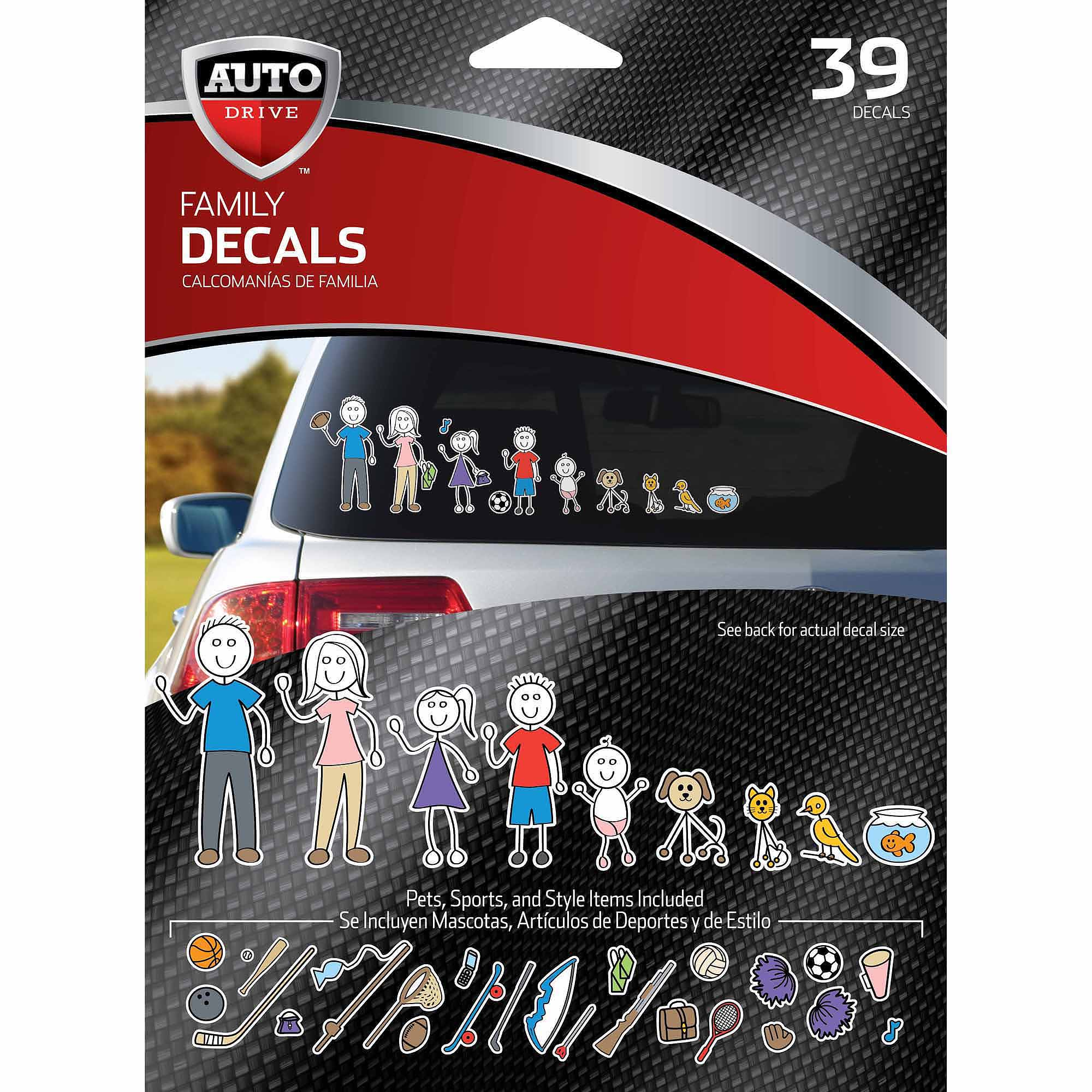 Family Car Decal Stickers Walmart