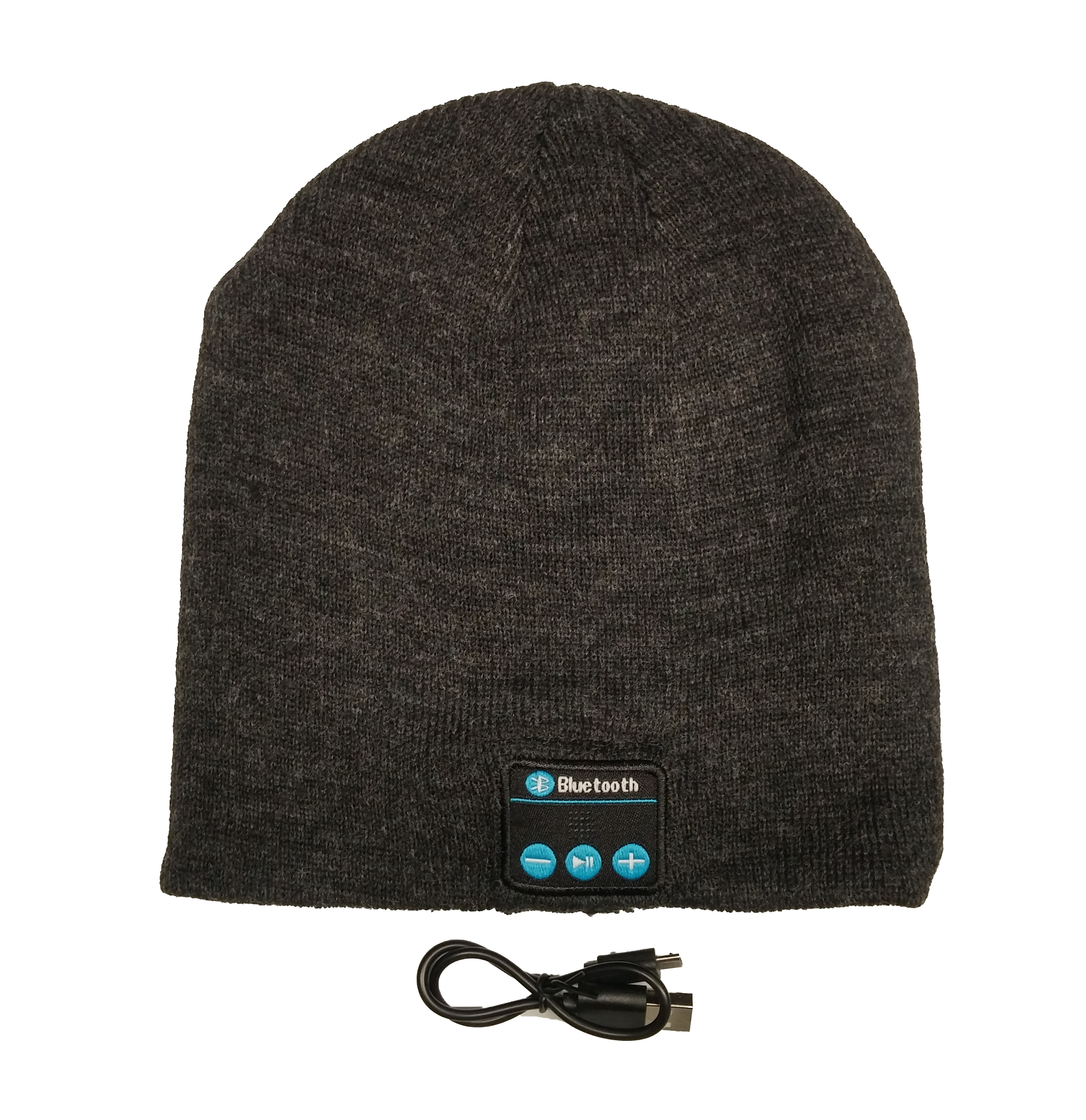 Bluetooth Beanie with Wireless Hands Free Easy Connect Technology Grey