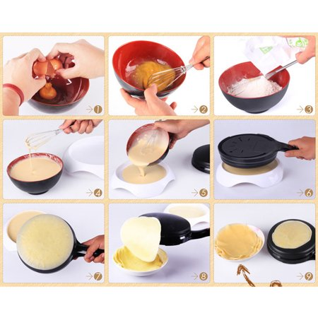 600W Kitchen Electric Griddle Pancake Baking Crepe Maker Pan Pizza Machine - image 1 of 4