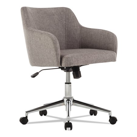 Alera Eon Series - Alera Captain Series Mid-Back Chair, Gray Tweed