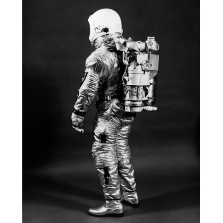 1960s Side View Of Astronaut Wearing Helmet Nasa Space Suit Poster Print By Vintage Collection