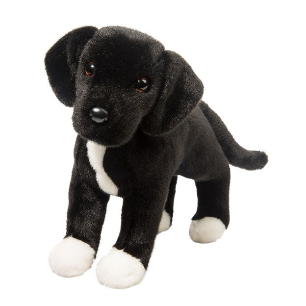 "Twister Black Lab / Pitbull Mix 17"" (Rescue Pups) Stuffed Animal Douglas Cuddle"