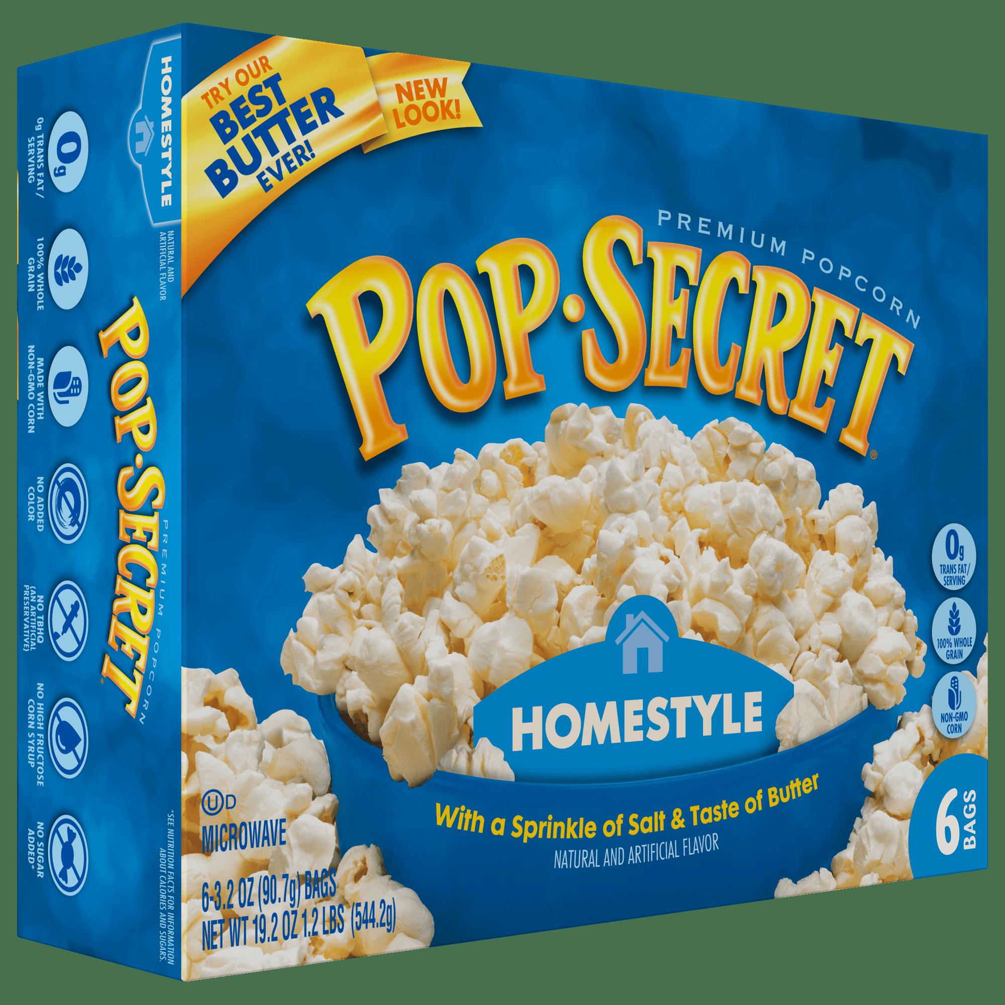 Pop Secret Microwave Popcorn, Homestyle, 3.2 Oz, 6 Ct - Walmart.com